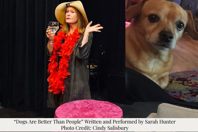 """Theater Reviews """"Dogs are Better Than People"""" Sarah Hunter and Koa"""