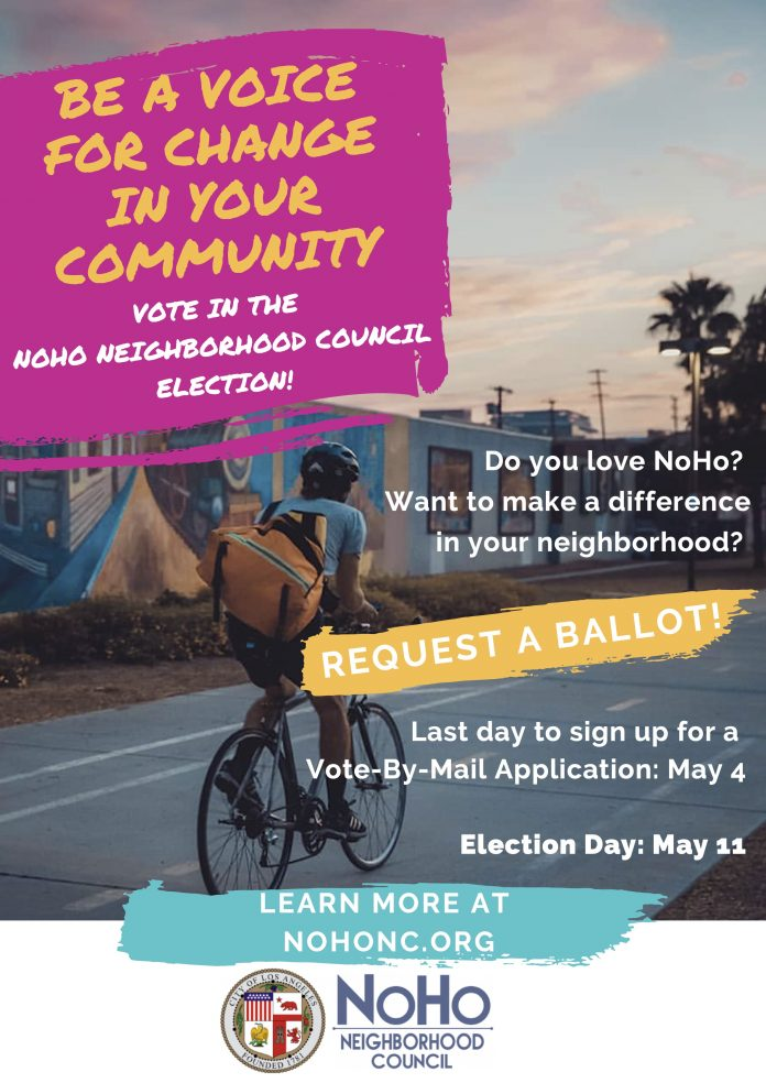 Vote in the NoHo Neighborhood Council Elections.