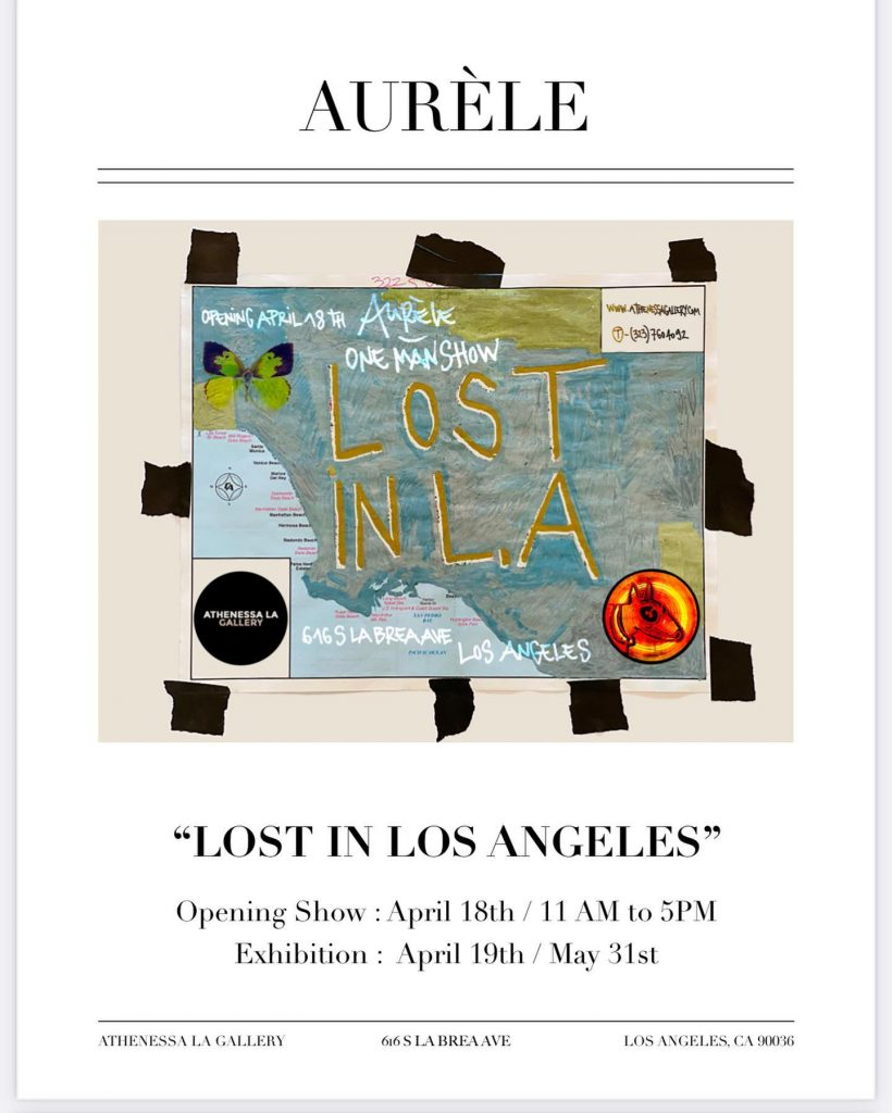 Aurèle Ricard exhibit Lost in Los Angeles at Athenessa LA Gallery.