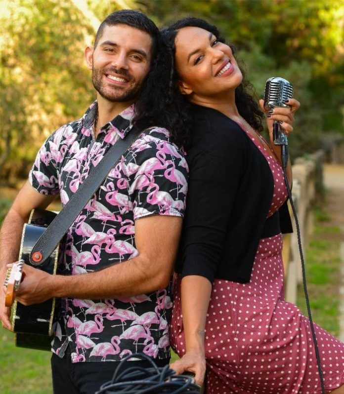 Meet the Sidewalk Singers. A singer and guitarist will arrive to perform songs of ALL GENRES for your special day.