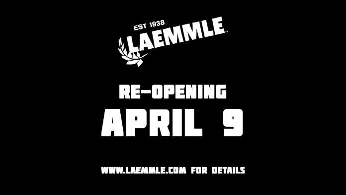 Laemmle NoHo Repens April 9
