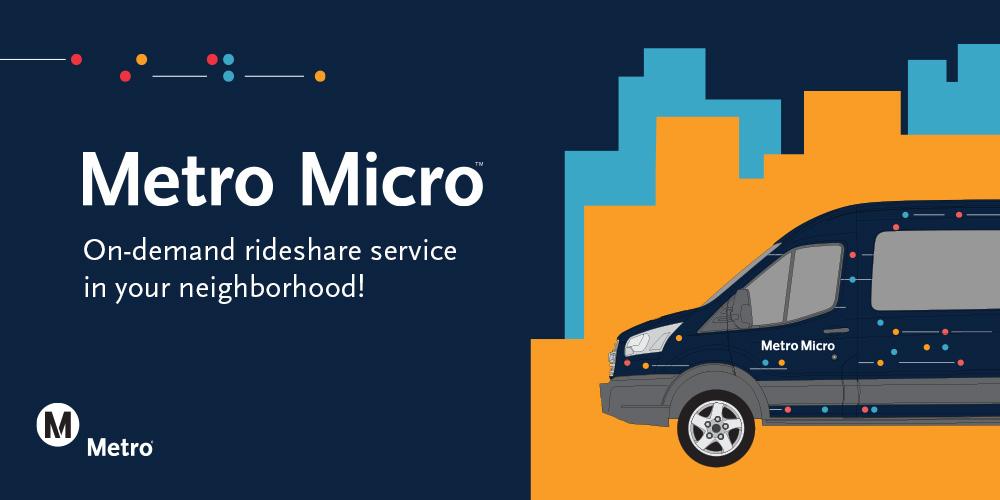 Metro Micro is LA Metro's new rideshare service.