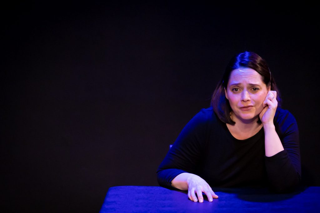 """Heather Dowling in """"Fertile"""" at Whitefire Theatre."""