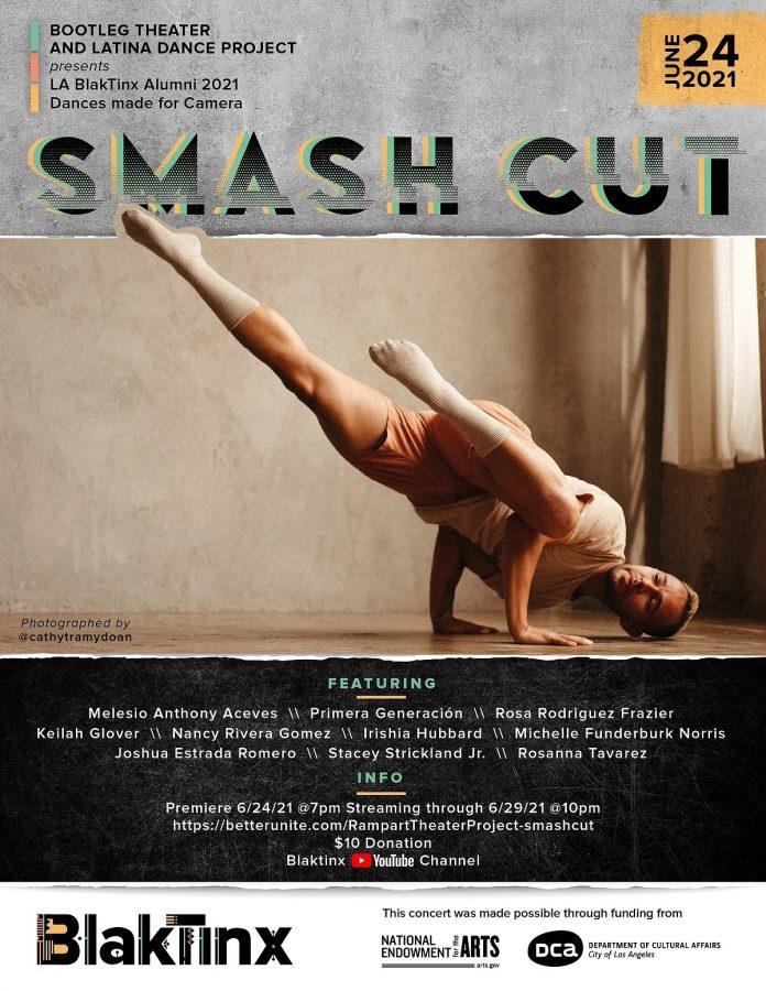 Smash Cut is BlakTinx Dance Festival's third alumni concert celebrating Black and Latinx choreographers and dance, June 24-29.