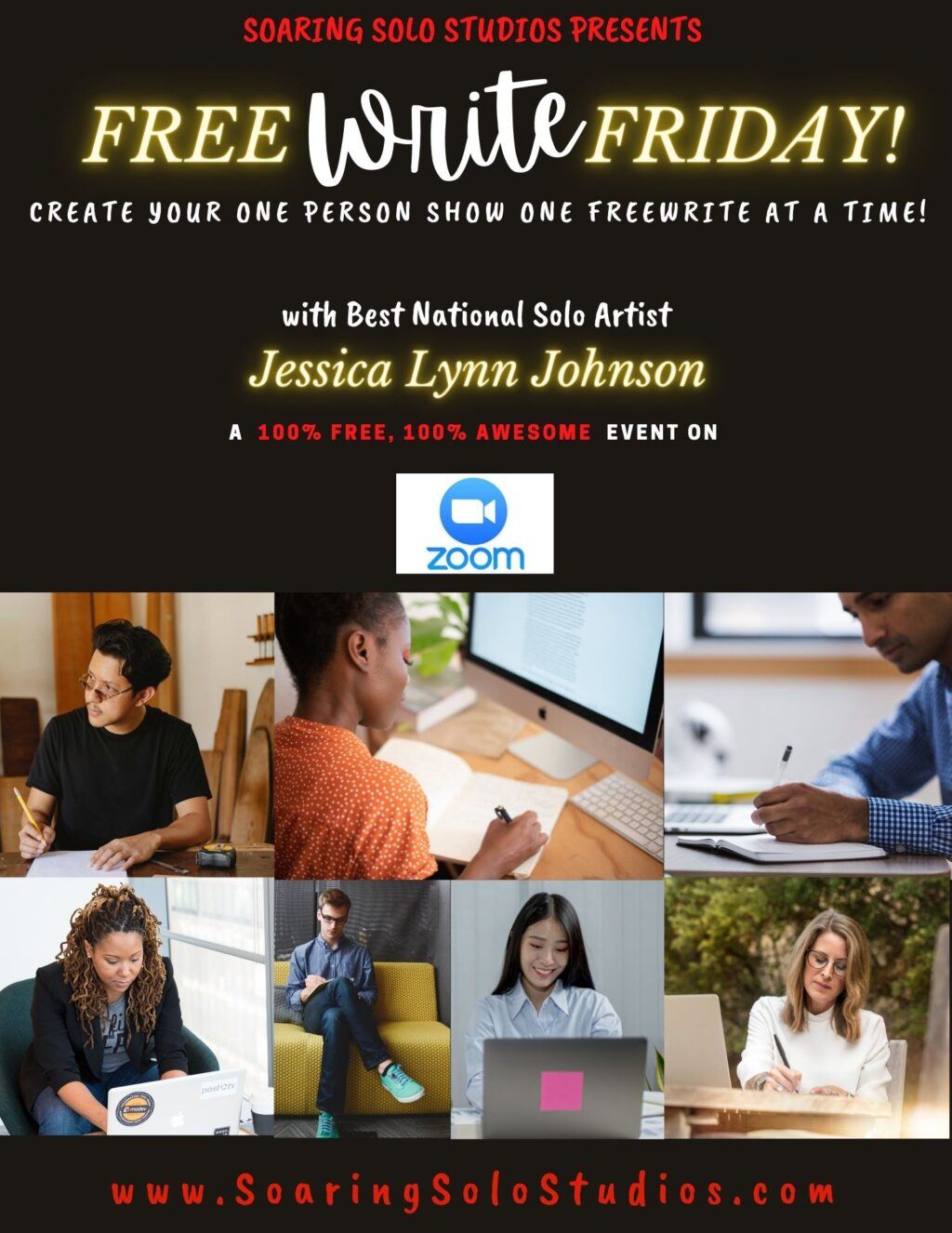 free write friday no date flyer