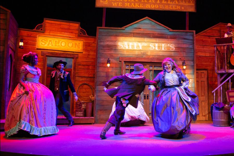 """""""The Root Beer Bandits, A Rootin' Tootin' Wild West Musicale"""" at Garry Marshall Theatre."""
